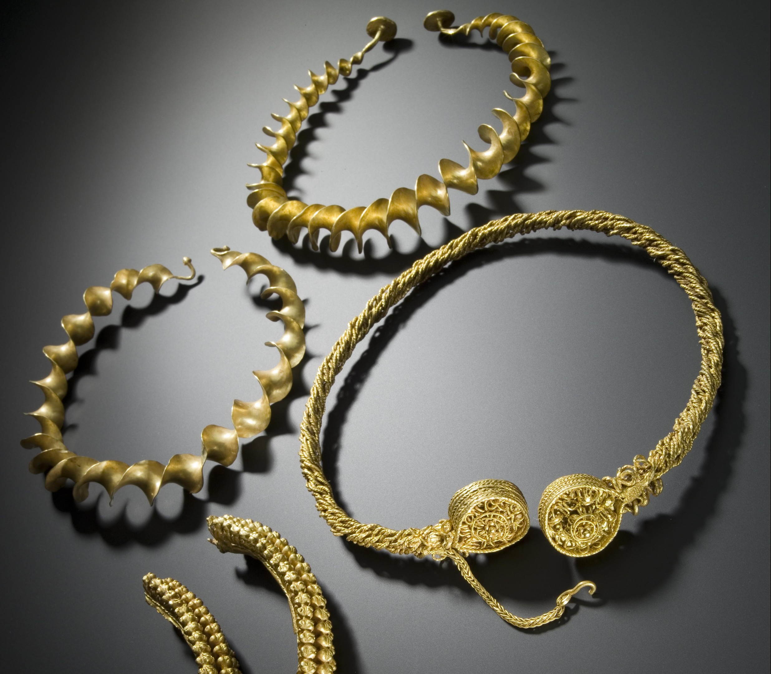 Iron Age Torcs found at Blair Drummond (National Museum of Scotland)