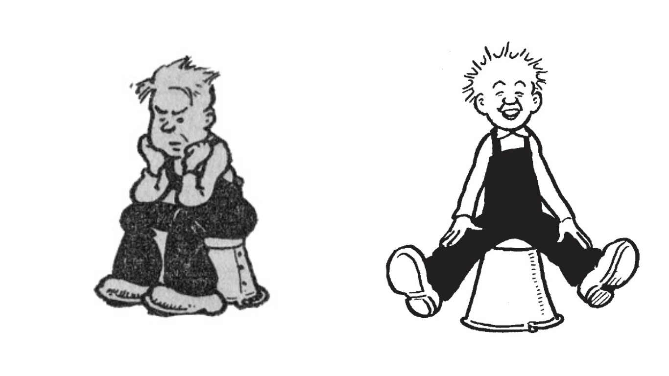 Oor Wullie has changed a bit over the years!