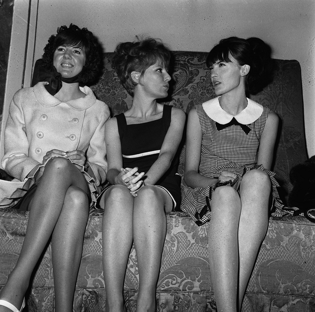 With Cilla Black and Sandie Shaw in 1965 (PA)
