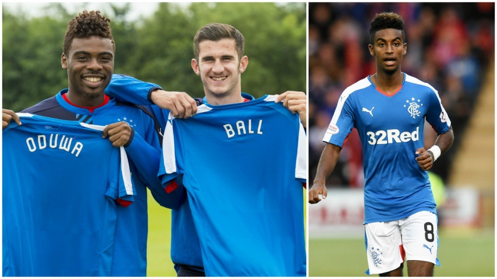 Rangers loaned in Nathan Oduwa and Dominic Ball (left) from Spurs and Gedion Zelalem from Arsenal (SNS Group)