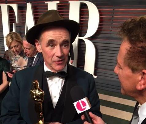 Ross King speaks to Oscar winner Mark Rylance at the Oscars