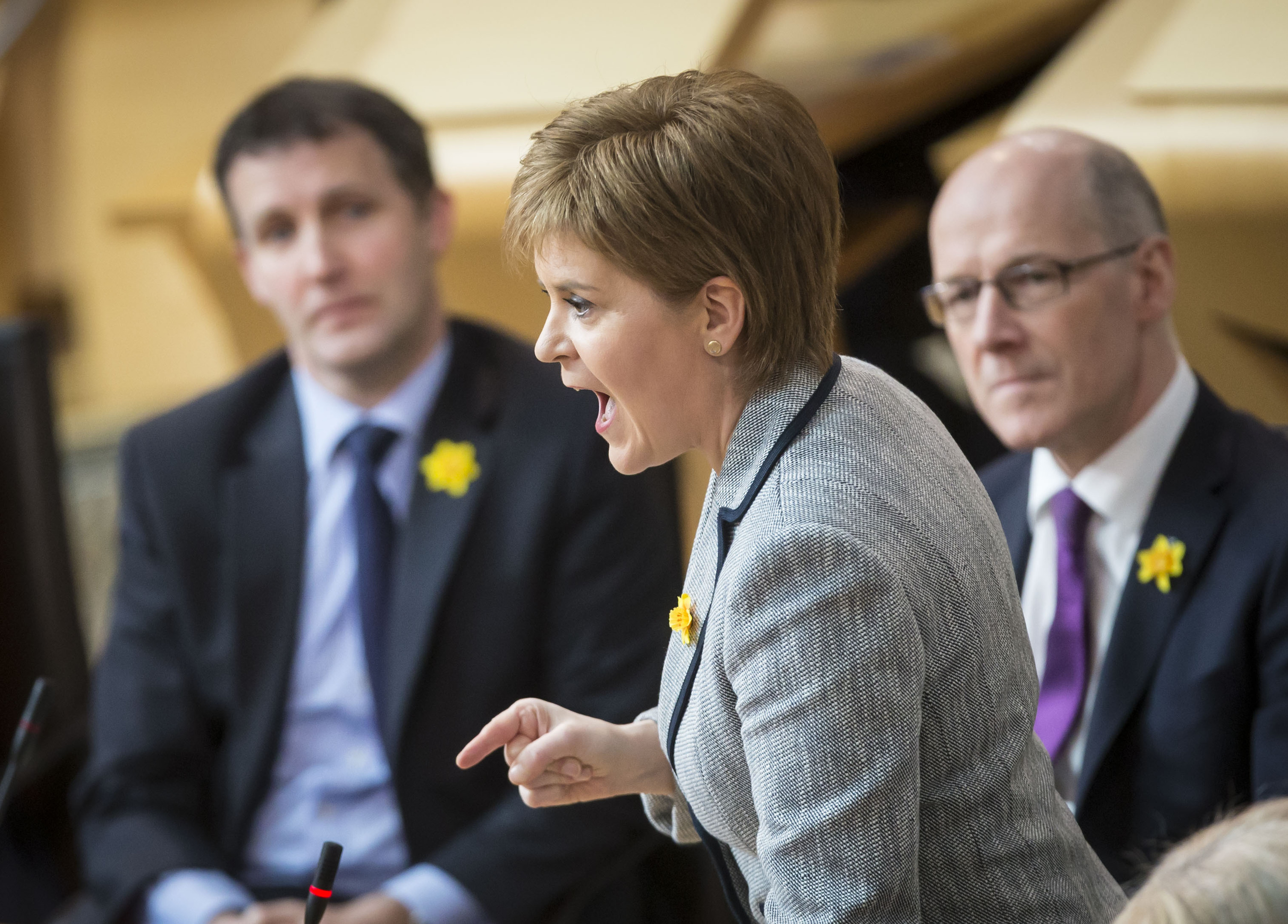 Nicola Sturgeon at First Minister's Questions (PA)