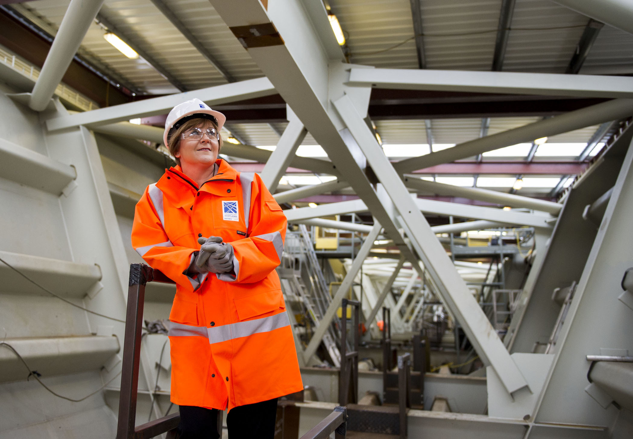 Nicola Sturgeon, visits the site of the New Forth Crossing at South Queensferry (Ian Jacobs)