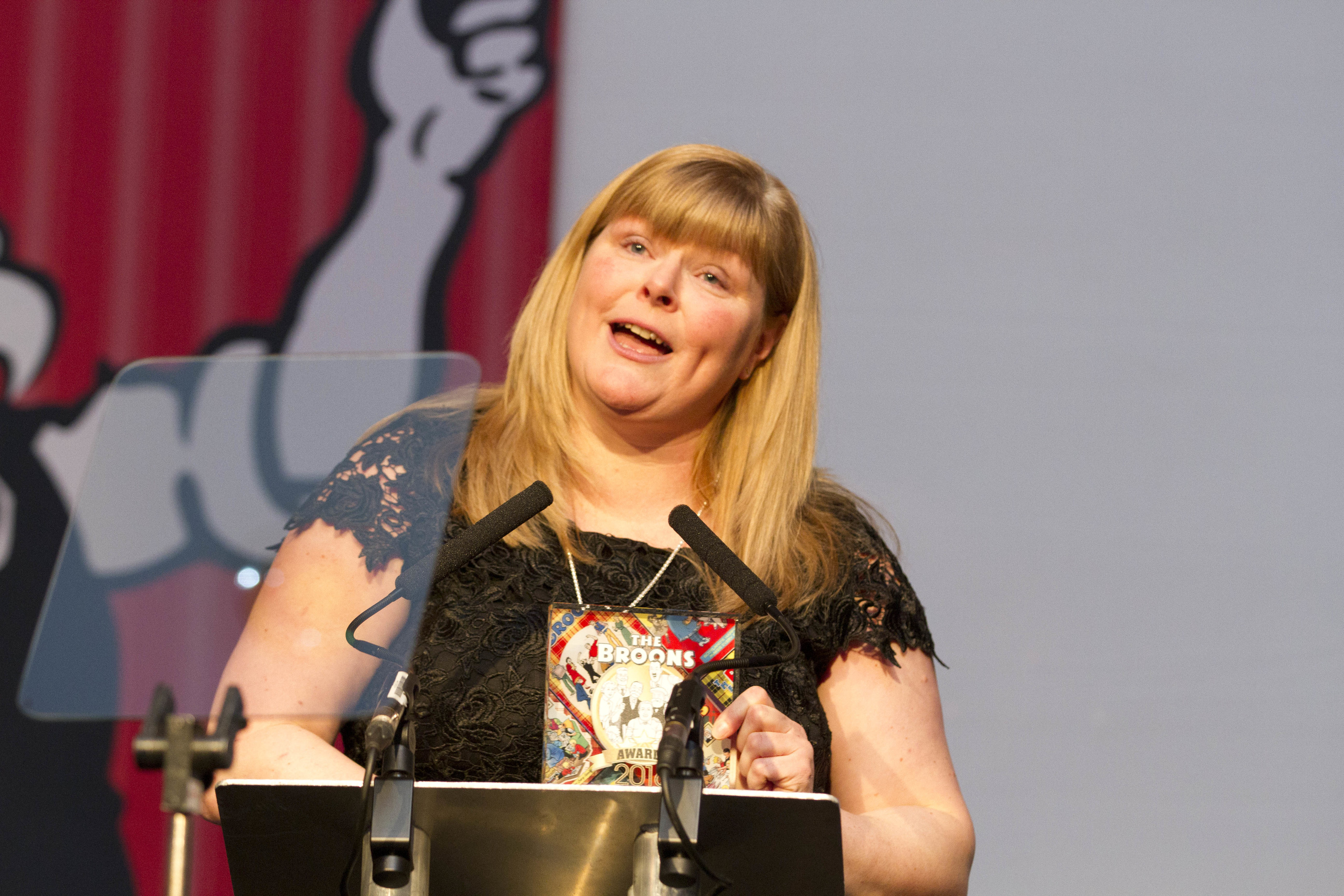 Allison Barr gave a moving speech about the bravery of her son Jak Trueman (Chris Austin/ DC Thomson)