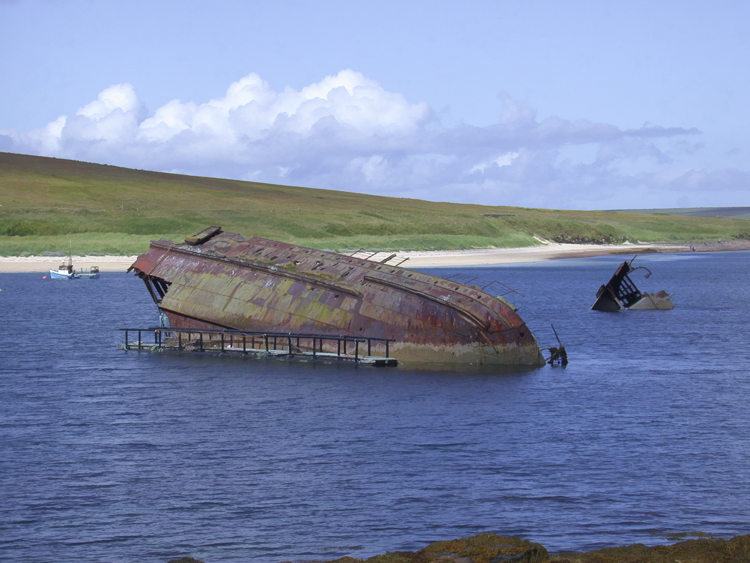 Scapa flow was used as a base by the Royal Navy during both world wars (hstiver)