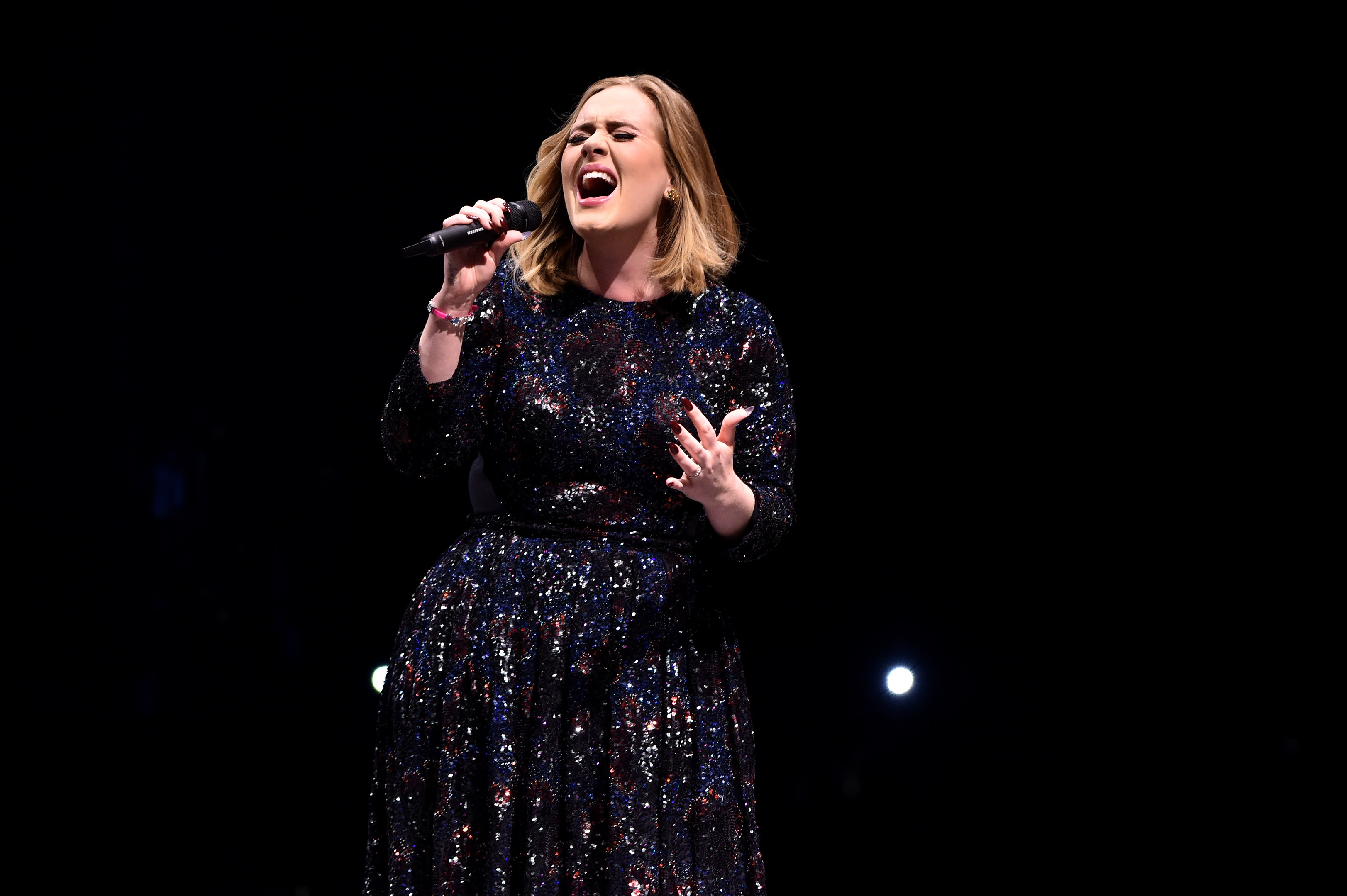 Adele performs at Glasgow's SSE Hydro (Gareth Cattermole/Getty Images)