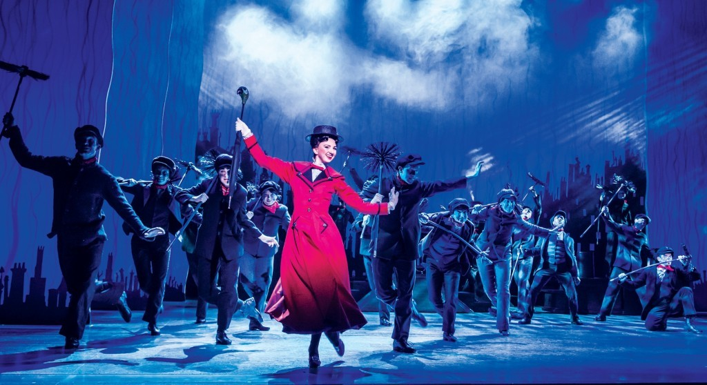 Zizi Strallen as Mary Poppins and the Company (Johan Persson)