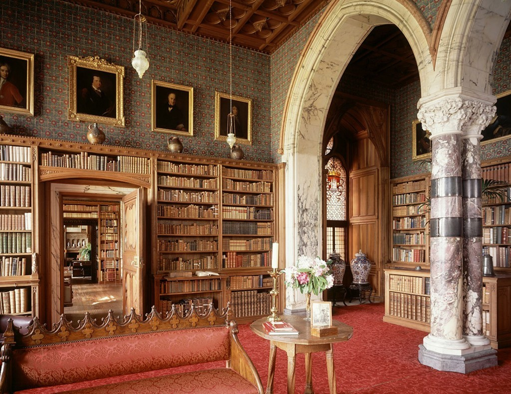 The library at Mount Stuart House (University of Oxford/PA Wire)