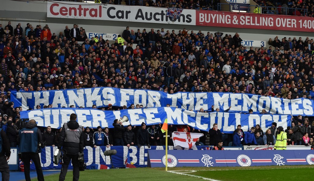 Rangers fans showed their appreciation for former captain Lee McCulloch (SNS Group)