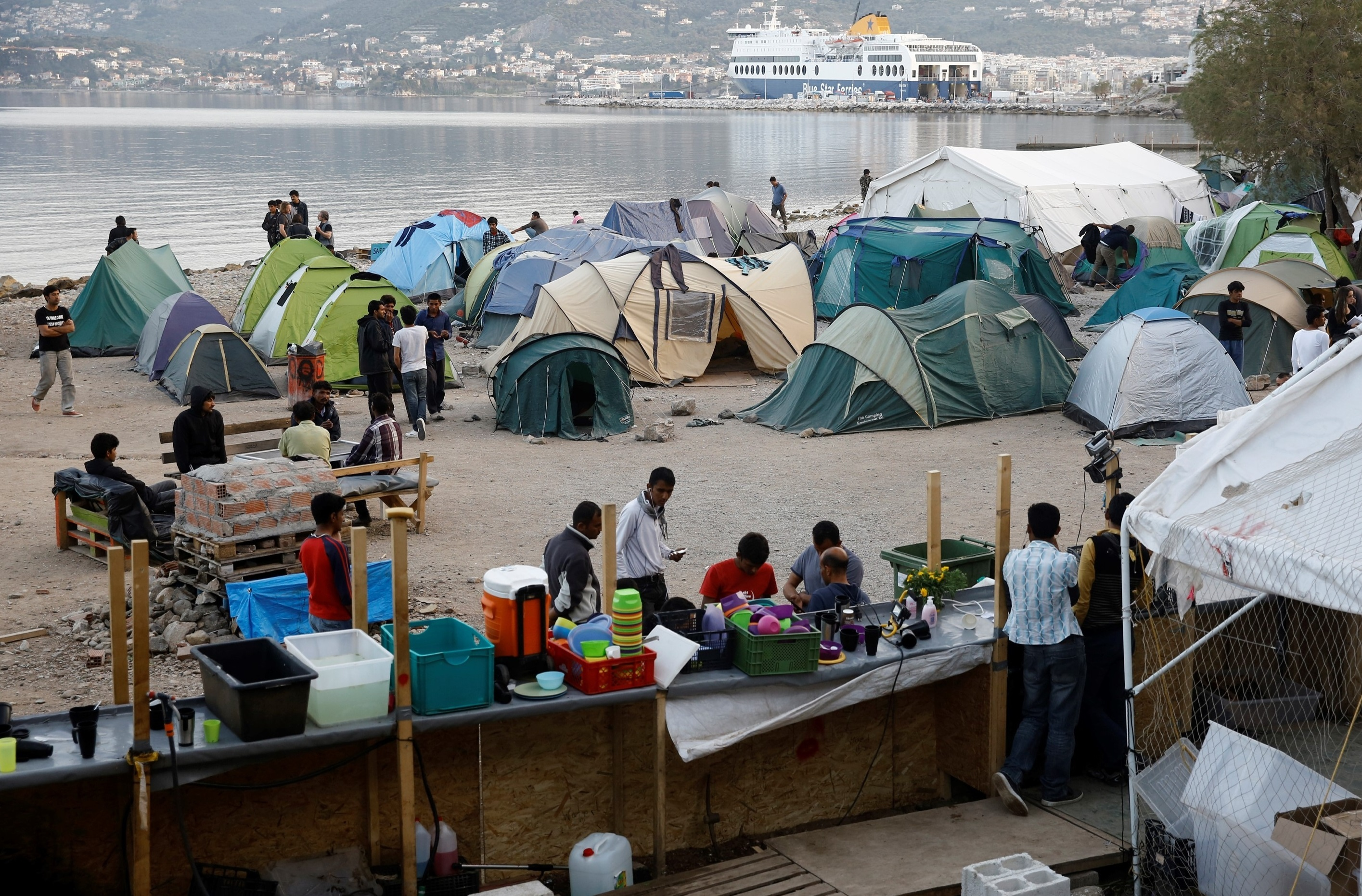 Refugee camp in Lesbos Island, Greece (Ayhan Mehmet/Anadolu Agency/Getty Images)