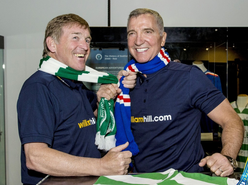 Ex-Old Firm rivals Kenny Dalglish (left) and Graeme Souness look ahead to the Scottish Cup semi-final between Celtic and Rangers (SNS Group)