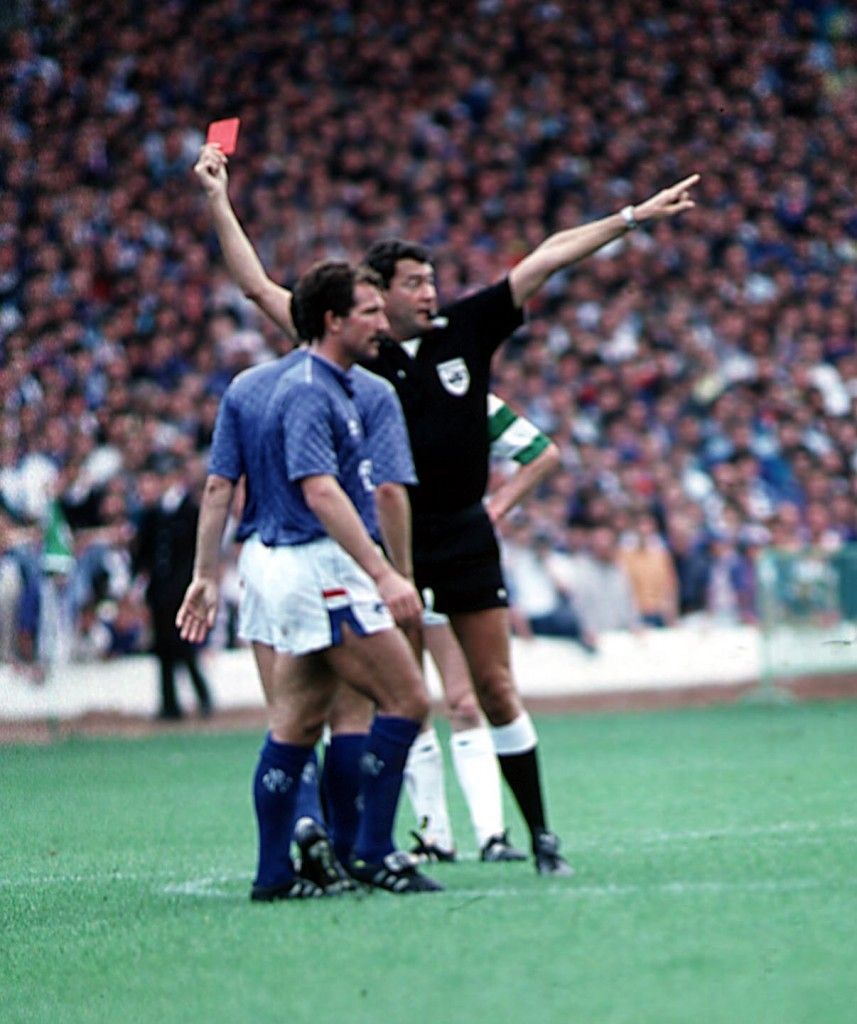 Souness sees red in a 1987 Old Firm match (SNS Group)