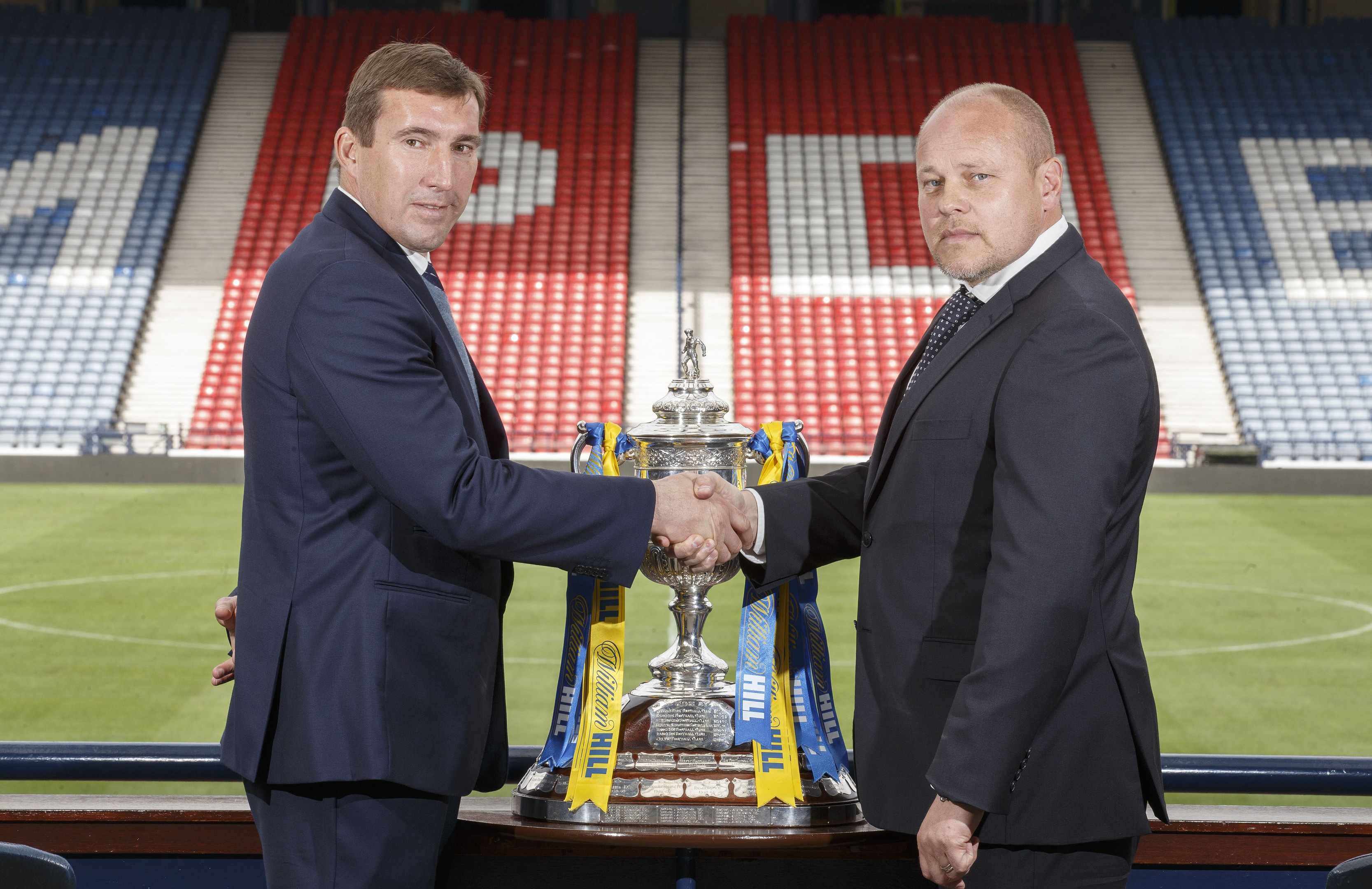 Alan Stubbs (L) and Mixu Paatelainen (Steve Welsh/William Hill/PA Wire)