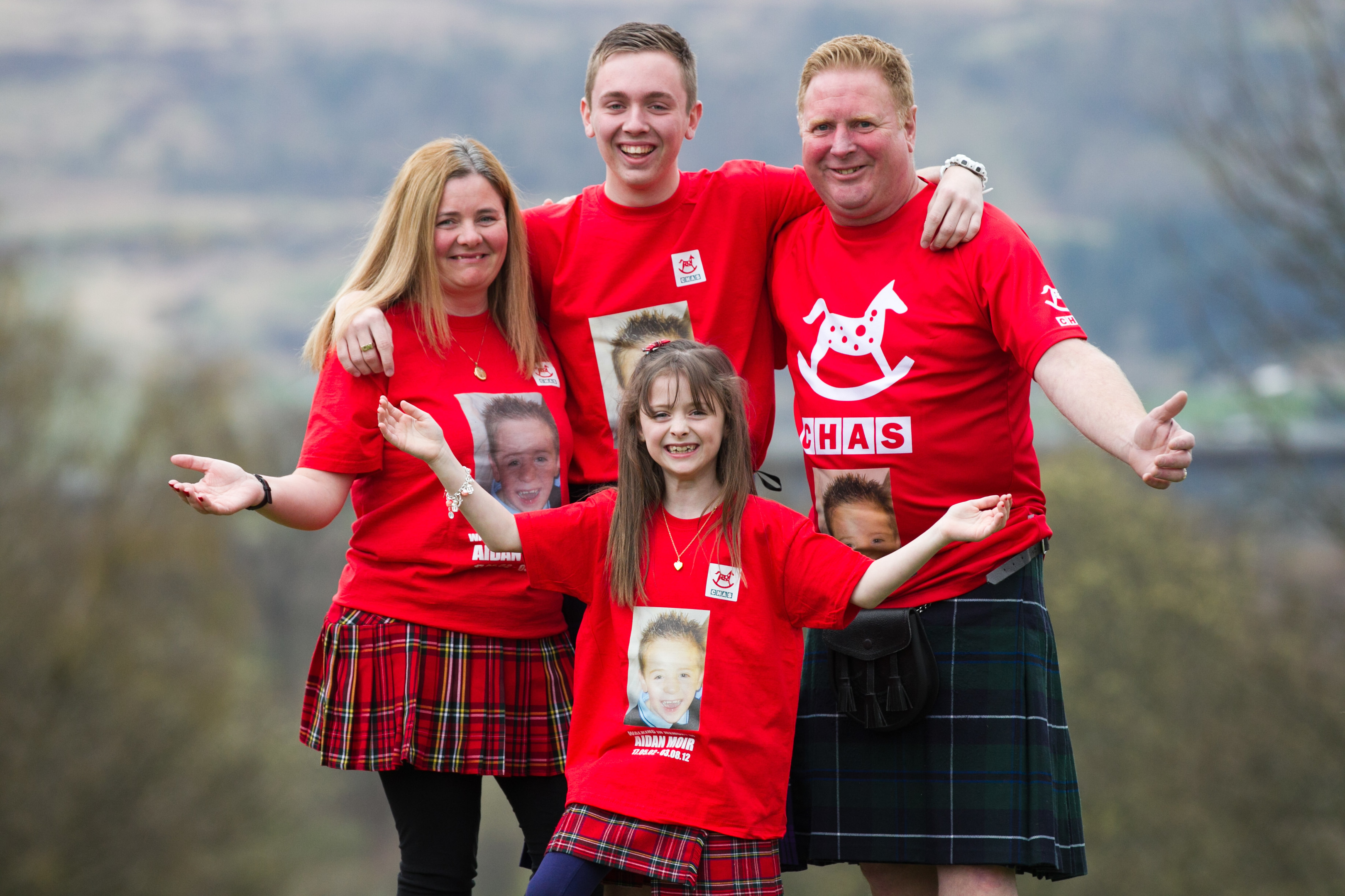 Claire Moir, husband Paul, and children Rebekah, and Connor (Andrew Cawley / DC Thomson)