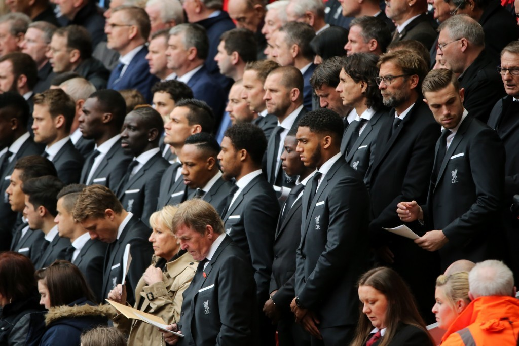 Guests included the current Liverpool team and manager Jurgen Klopp and club legend Kenny Dalglish (Christopher Furlong/Getty Images)