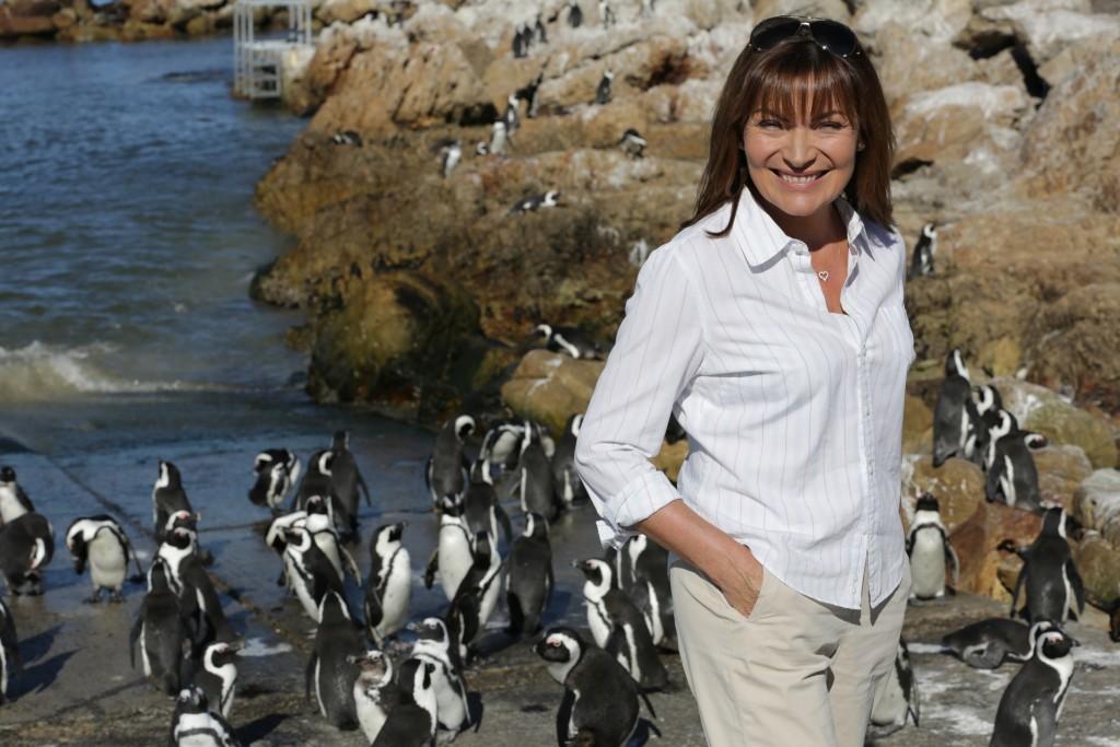 Lorraine meets the penguins