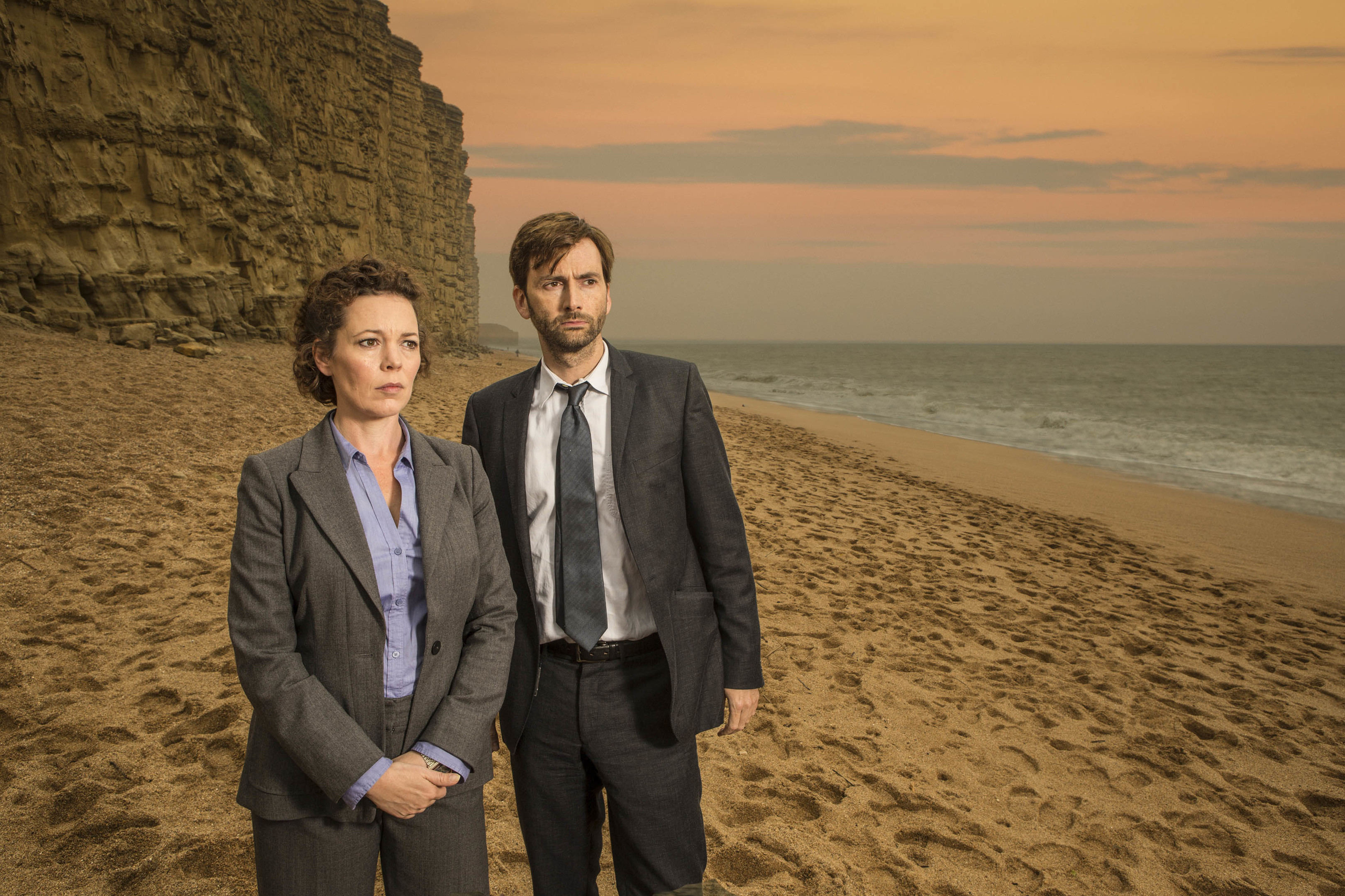David Tennant as DI Alec Hardy and Olivia Colman as DS Ellie Miller (ITV)