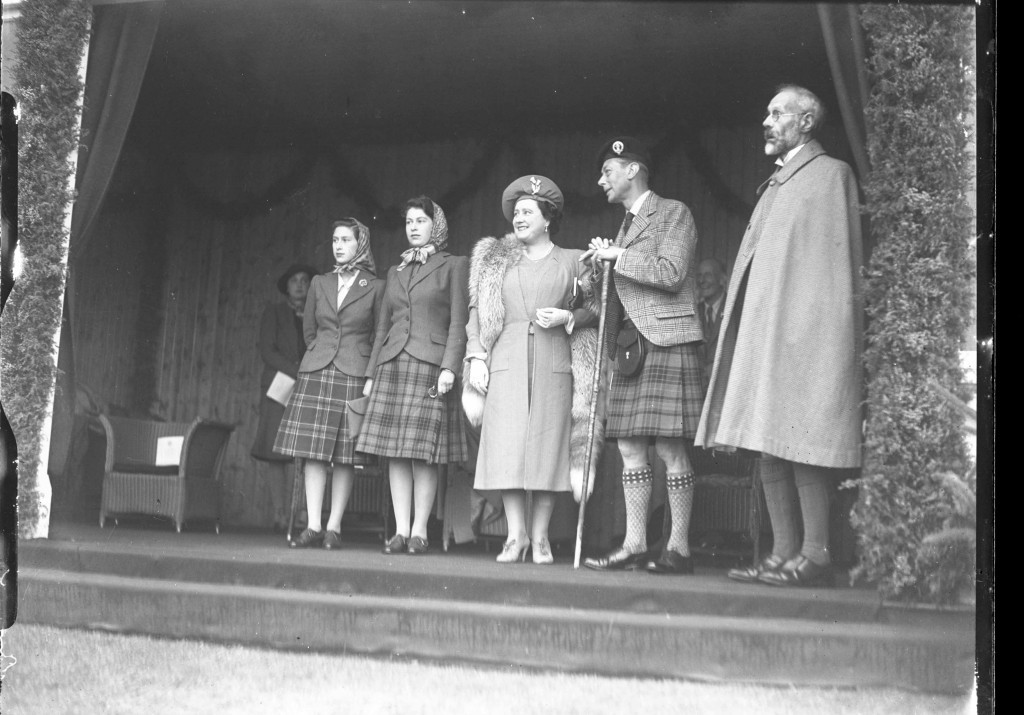 A teenage Princess Elizabeth (second left) with her family look the part at the Braemar Gathering in 1945 (DC Thomson)