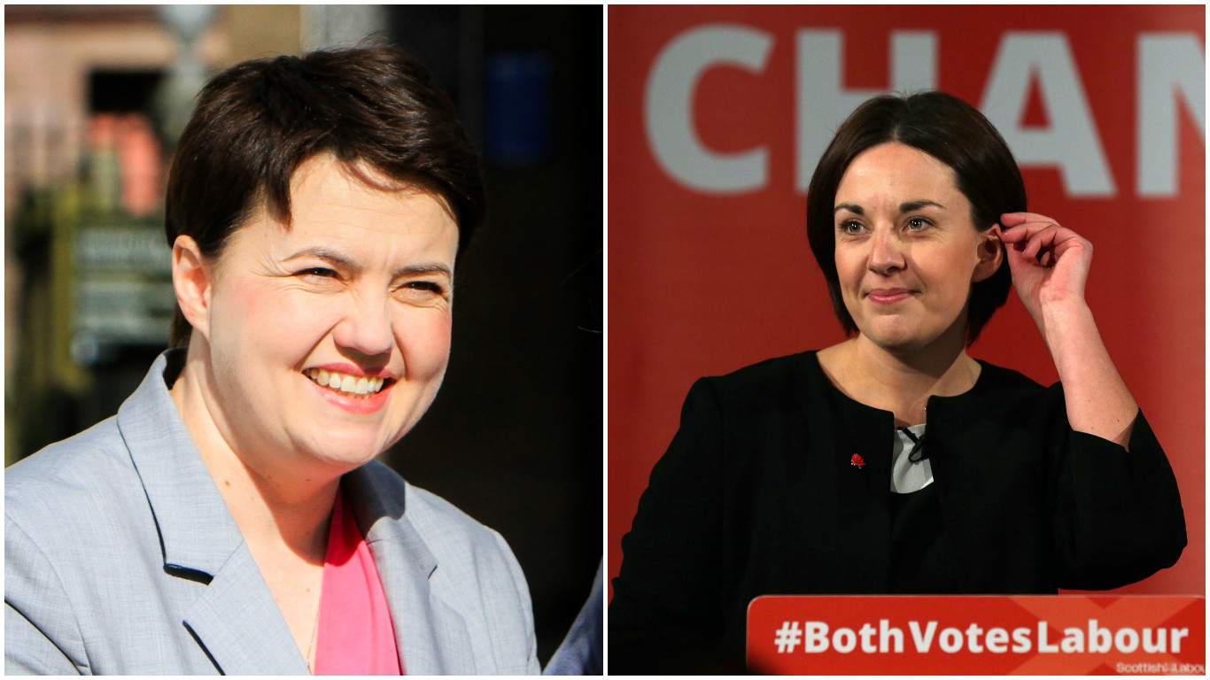 Ruth Davidson (left) and Kezia Dugdale (Steve MacDougall / DC Thomson & David Cheskin/PA Wire)