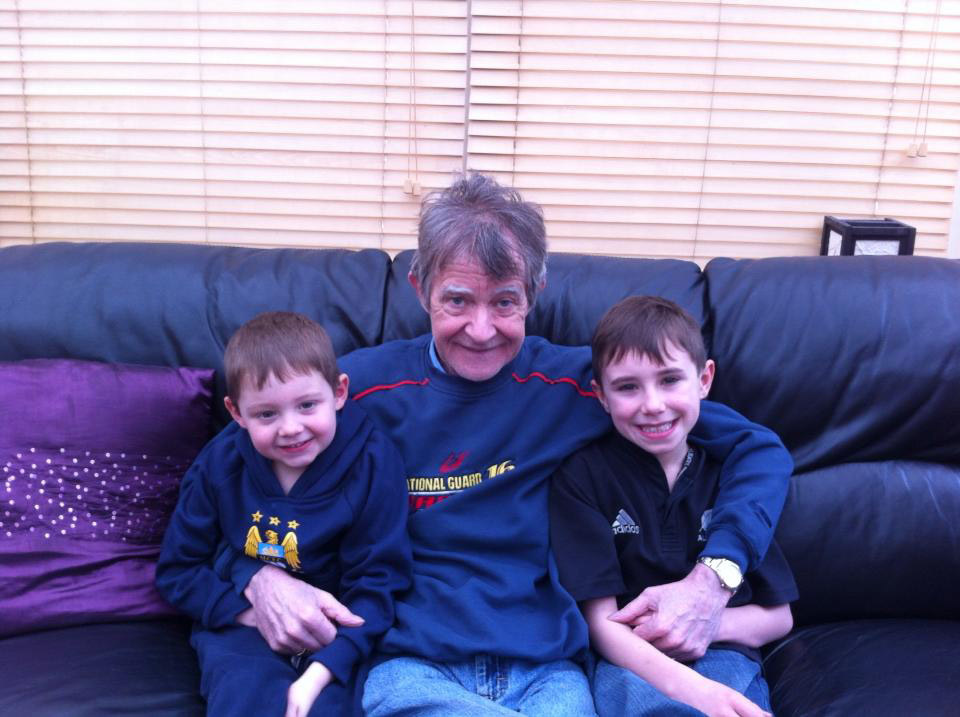 Campbell with grandsons Callum (left) and Arran (right)