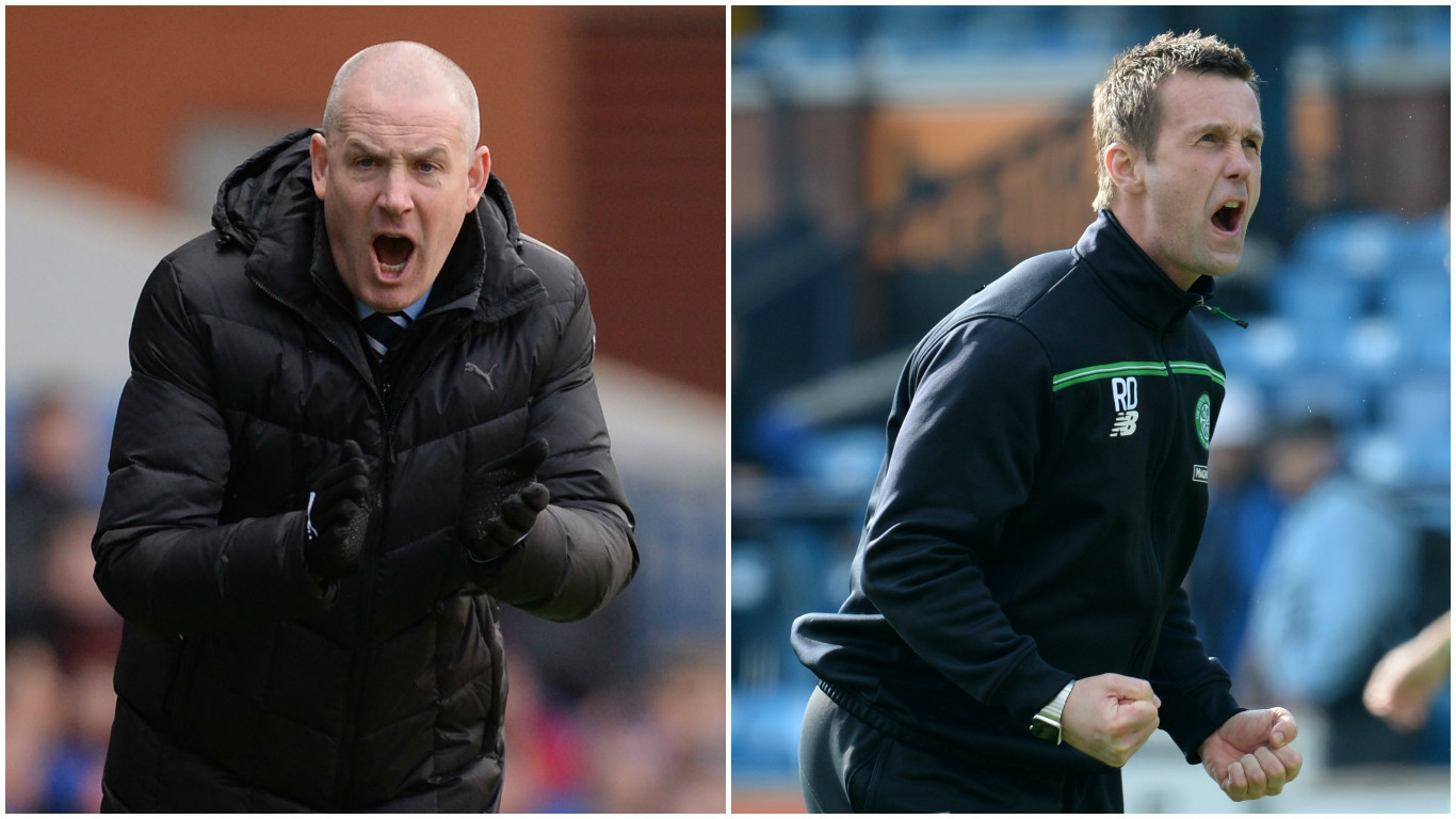 Mark Warburton (left) and Ronny Deila will lead their sides into this weekend's semi-final (SNS Group)