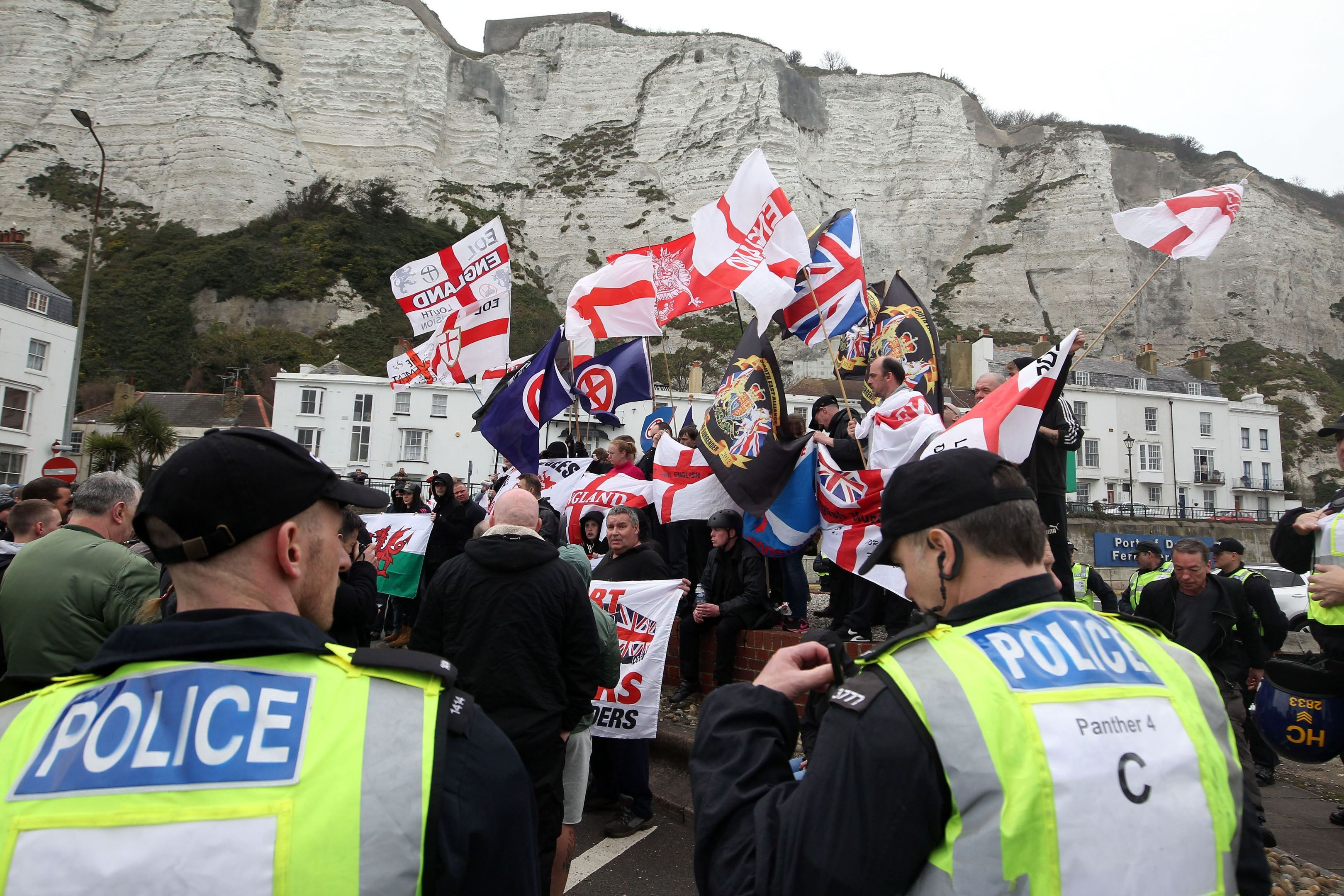 Dover immigration protest (PA)