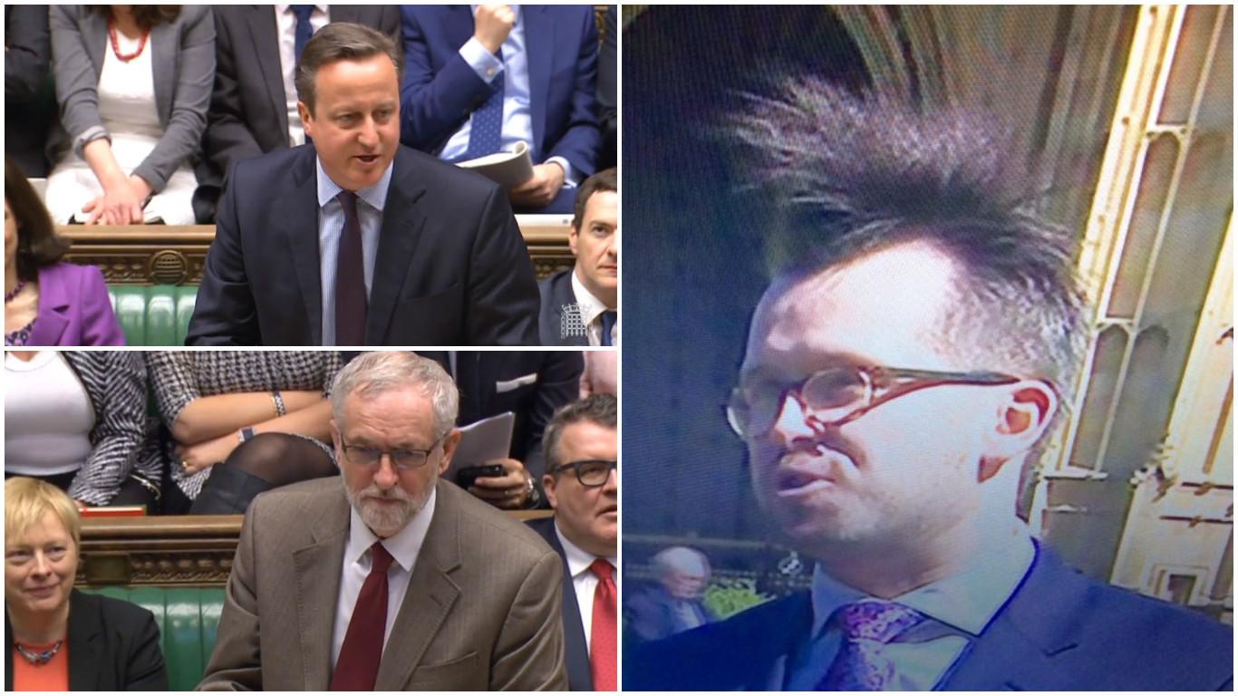 Cameron and Corbyn go head to head again at PMQs and Stewart McDonald gets a new hairdo