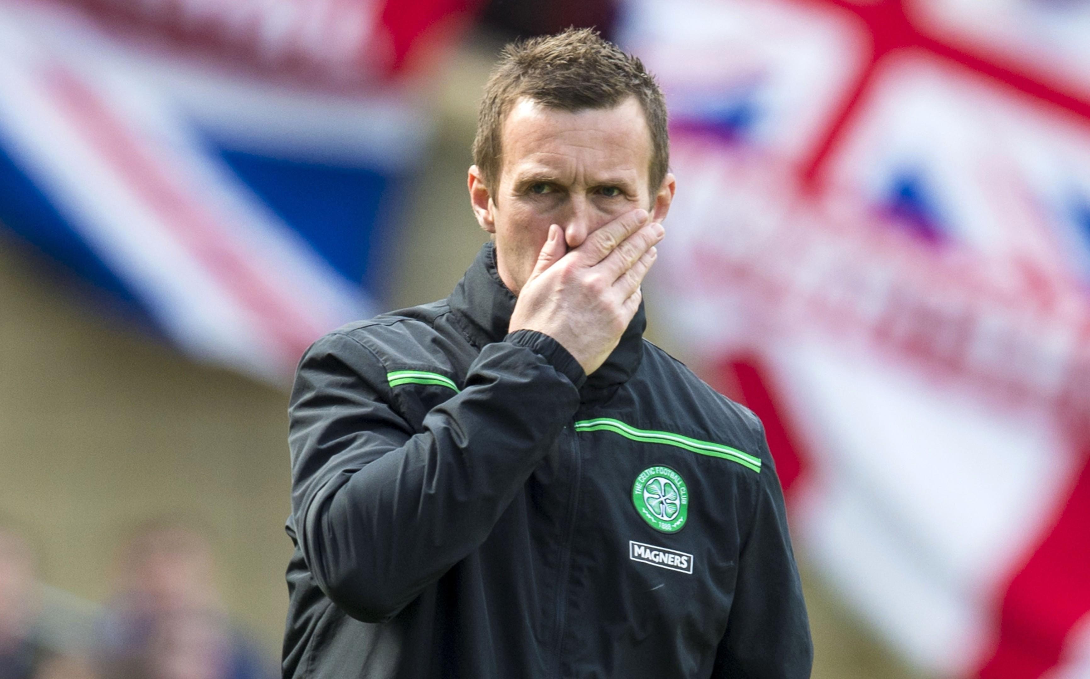Dejection for Celtic manager Ronny Deila (SNS Group / Alan Harvey)