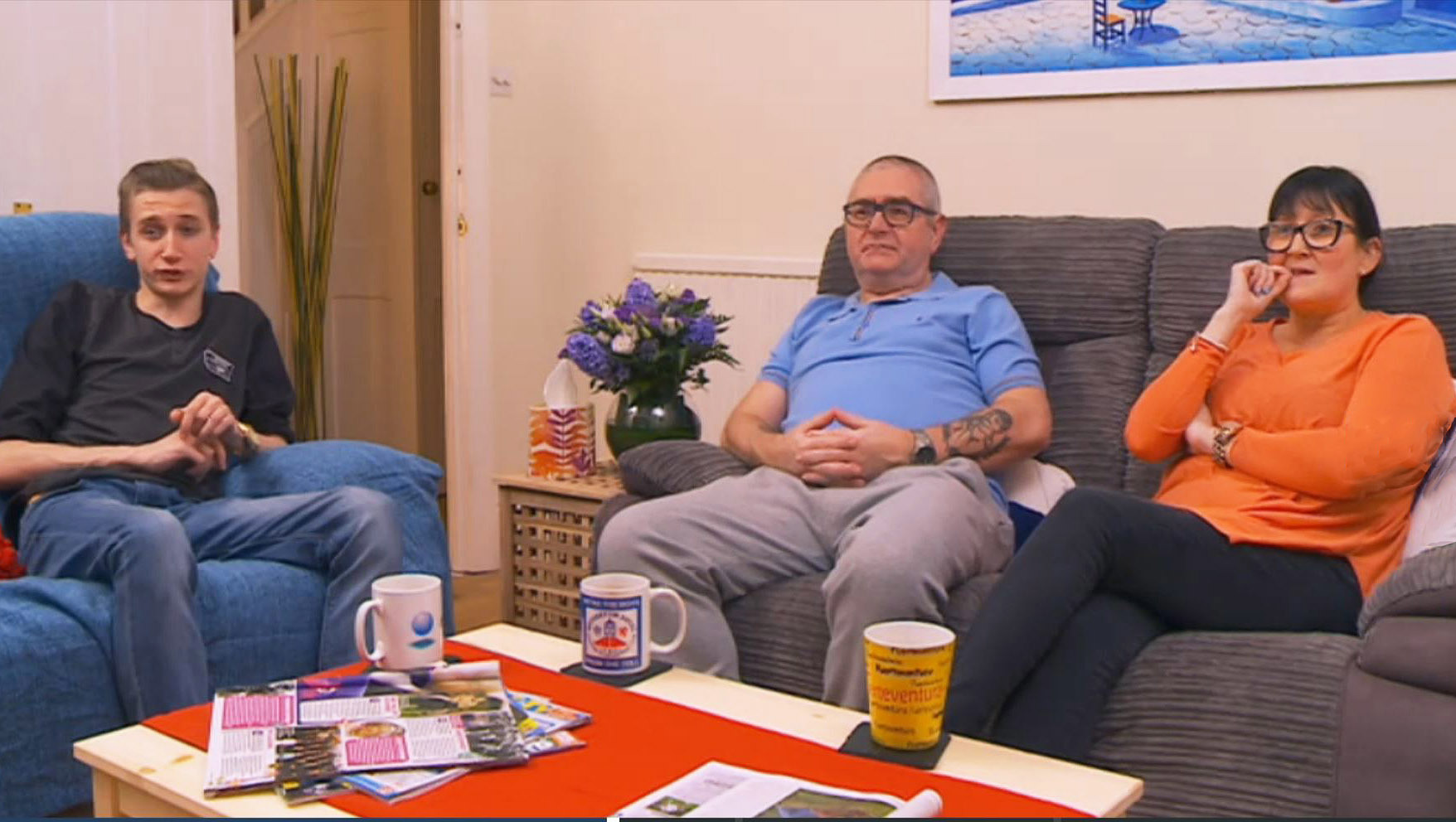 The Manuel family, who are from Glasgow but live in Croydon are a new family on Gogglebox