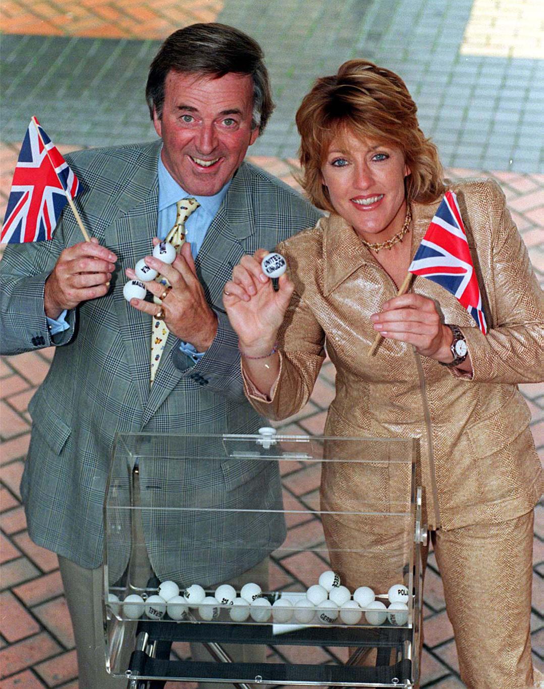Previous Eurovision Song Contest winner Katrina and compere Terry Wogan (David Jones/PA)
