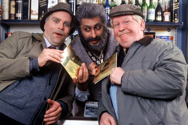 Sanjeev with Greg and Ford in Still Game