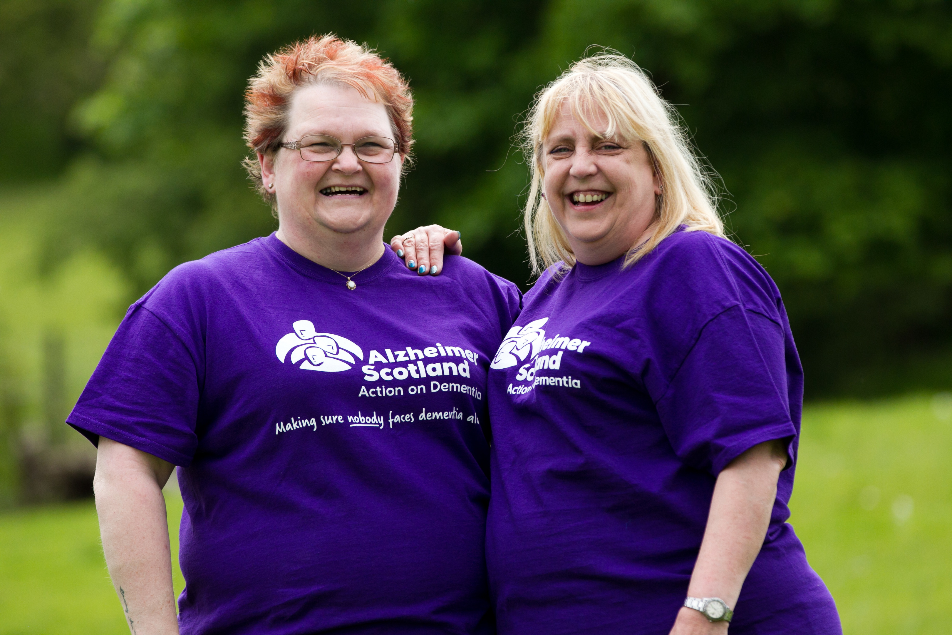 Margaret McLaren (left) and sister Ann are going to be taking part in the Memory Walk, raising money for Alzheimer's Scotland, and in memory of their mother Mary Baxter (Andrew Cawley/ DC Thomson)