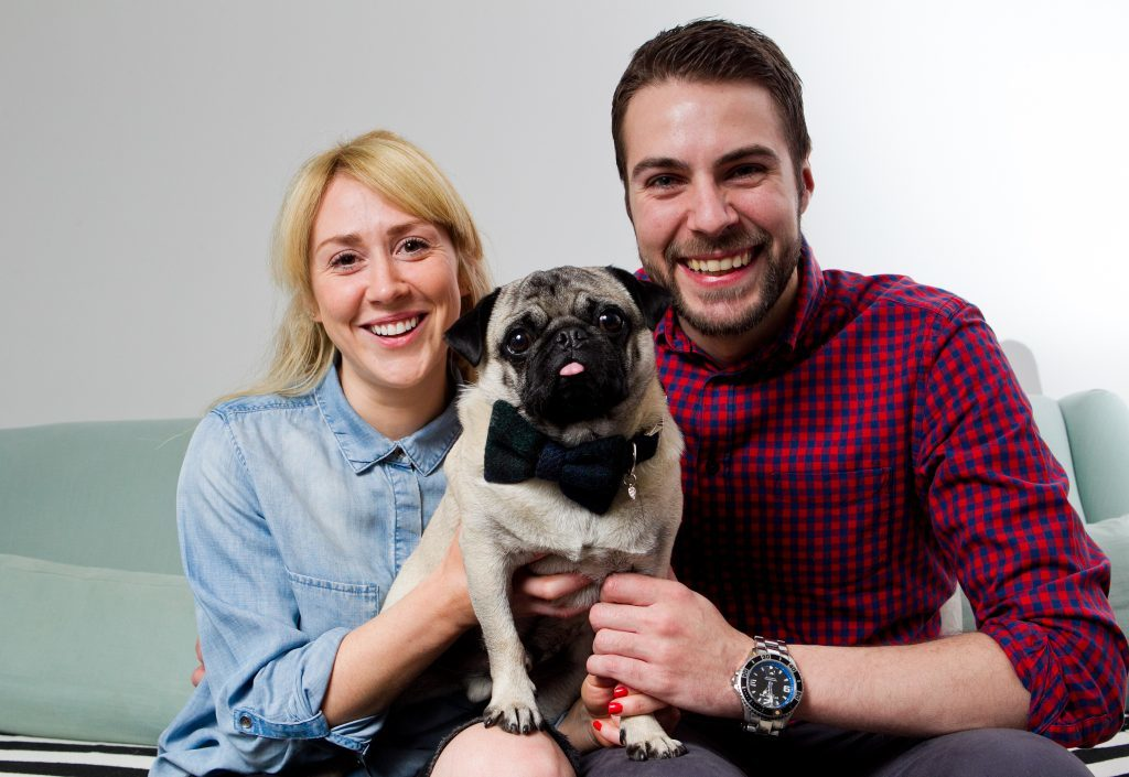 Dug the Pug is going to be a special guest at his owners Amy Gray and Chris Kay's wedding (Andrew Cawley / DC Thomson)