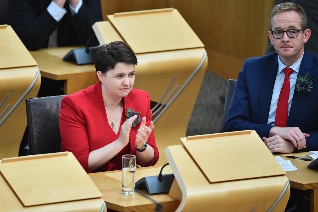 Ruth Davidson takes her place in the chamber (Jeff J Mitchell/Getty Images)