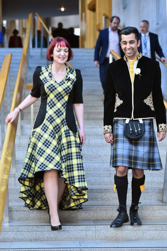 Angela Constance and Humza Yousaf of the SNP  ( Jeff J Mitchell/Getty Images)