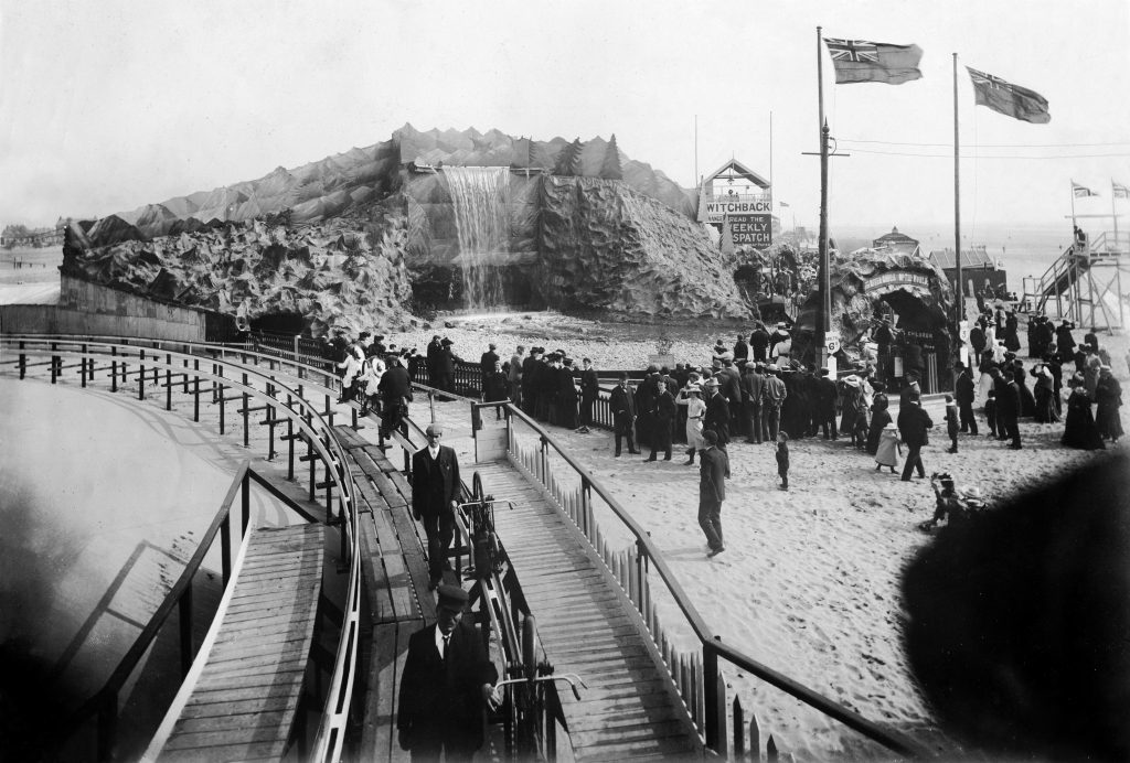 1905: The River Caves made a spectacular backdrop to the Bicycle Railway