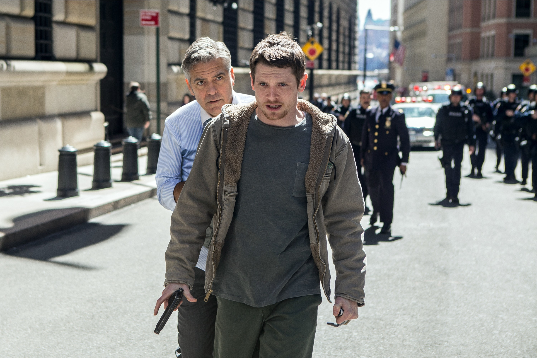 Jack alongside George Clooney in Money Monster (Allstar/TRISTAR PICTURES)