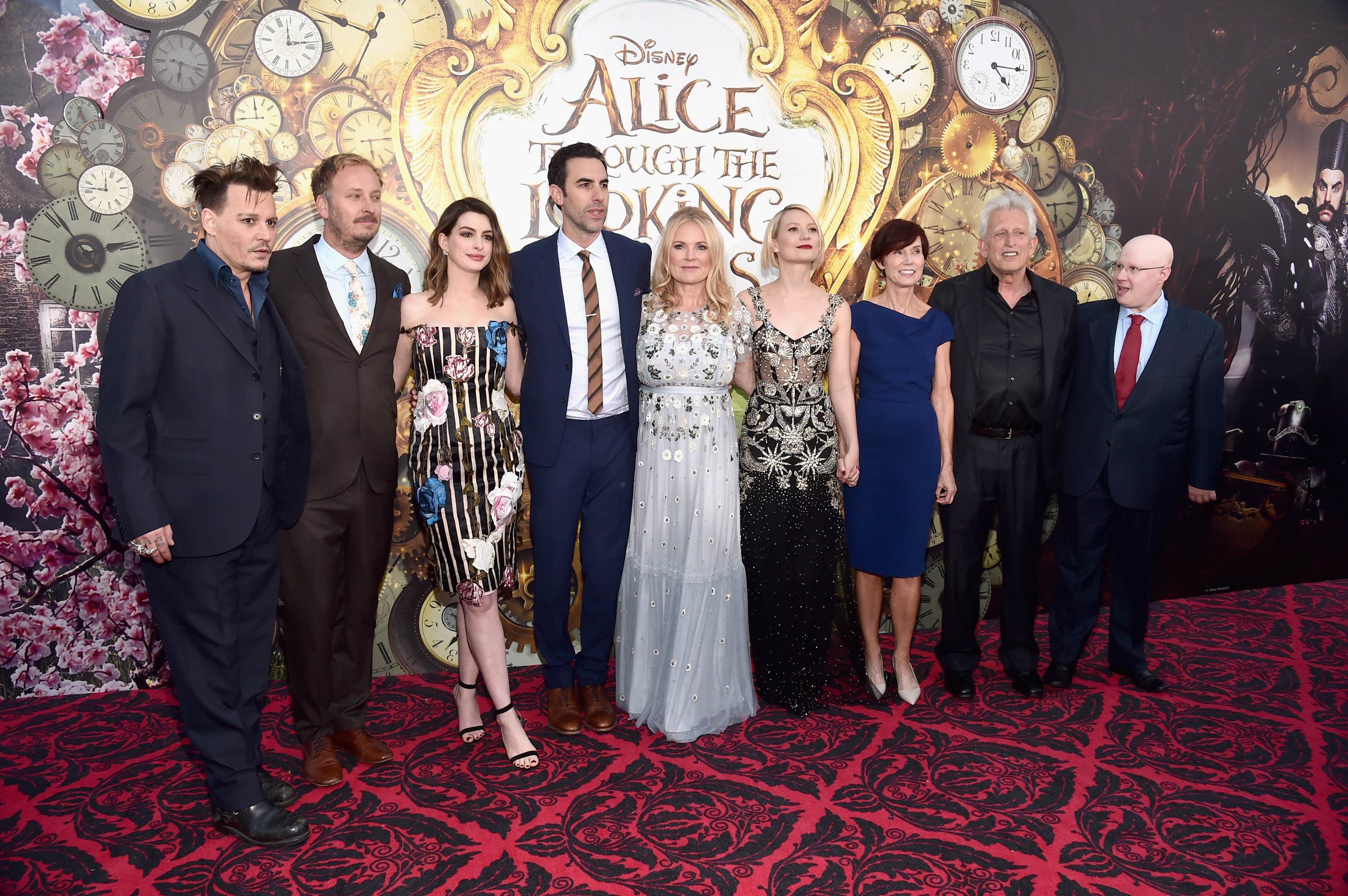 Some of the film's cast and crew (Alberto E. Rodriguez/Getty Images for Disney)