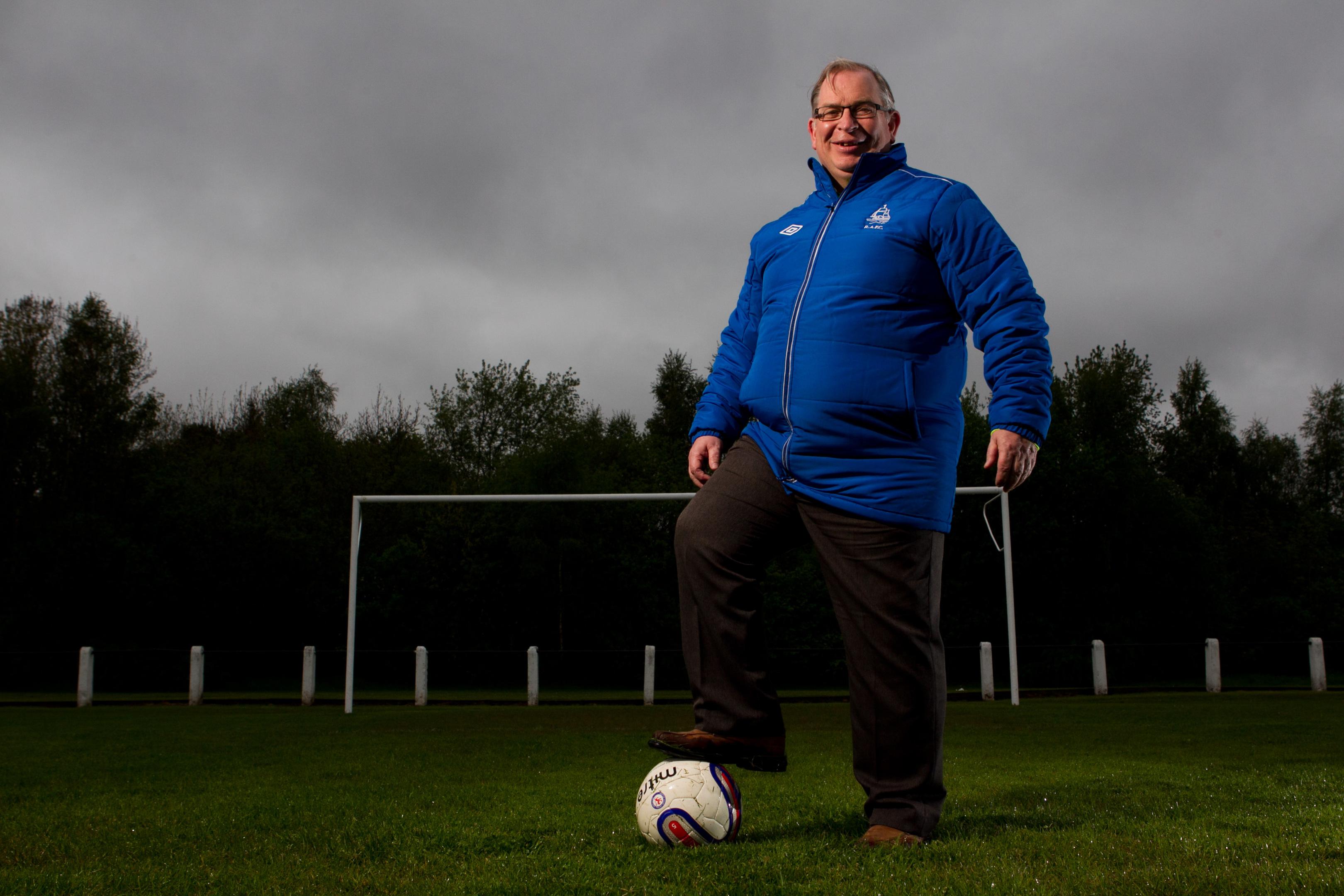 Peter Higgins, club secretary of Royal Albert Football Club (Andrew Cawley/ Sunday Post)