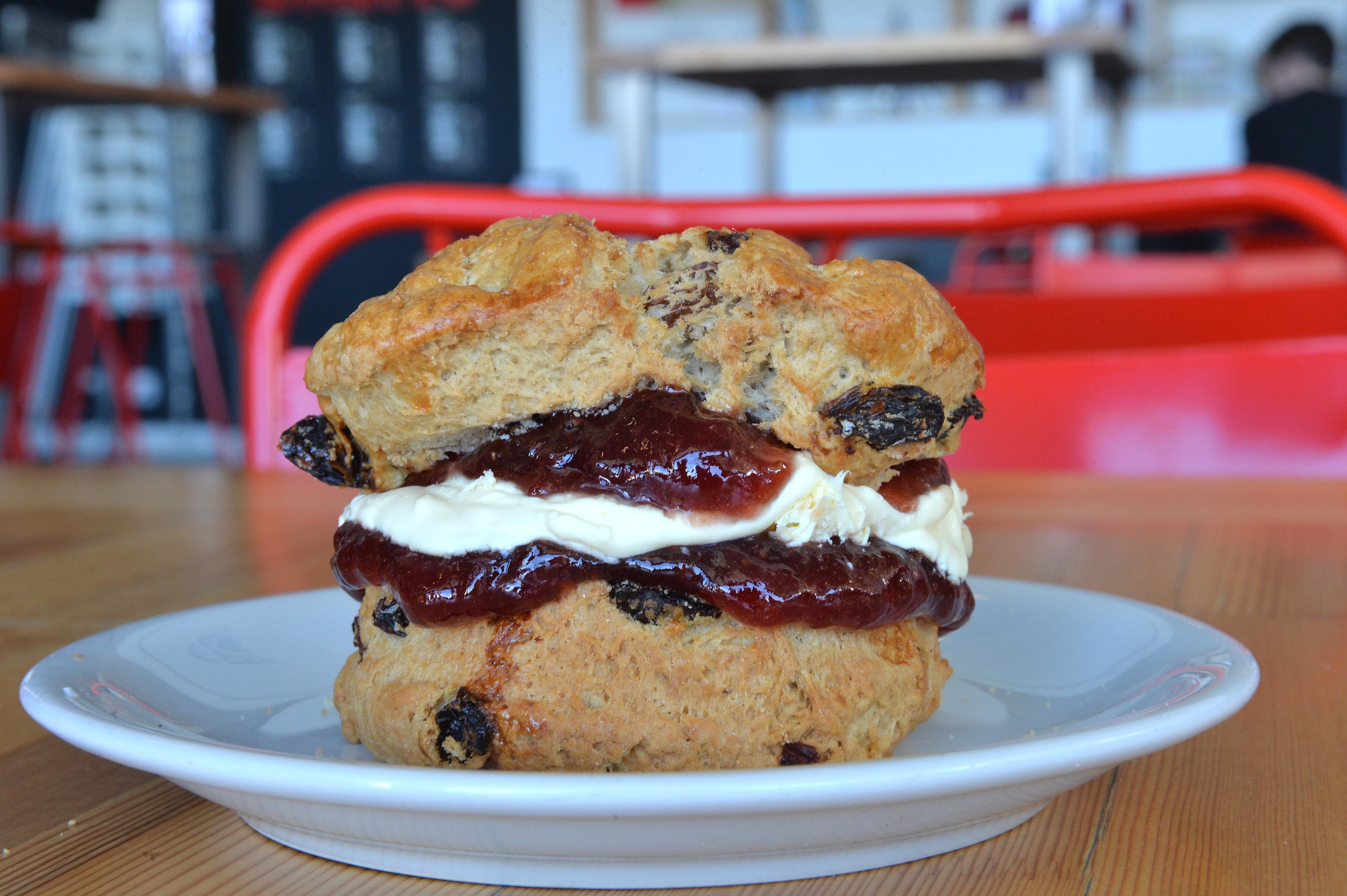 A scone at Baltic Kitchen in Gateshead on the south bank of the River Tyne. Part of the Baltic Centre for Contemporary Arts (Paul Vicente /Sunday Post)