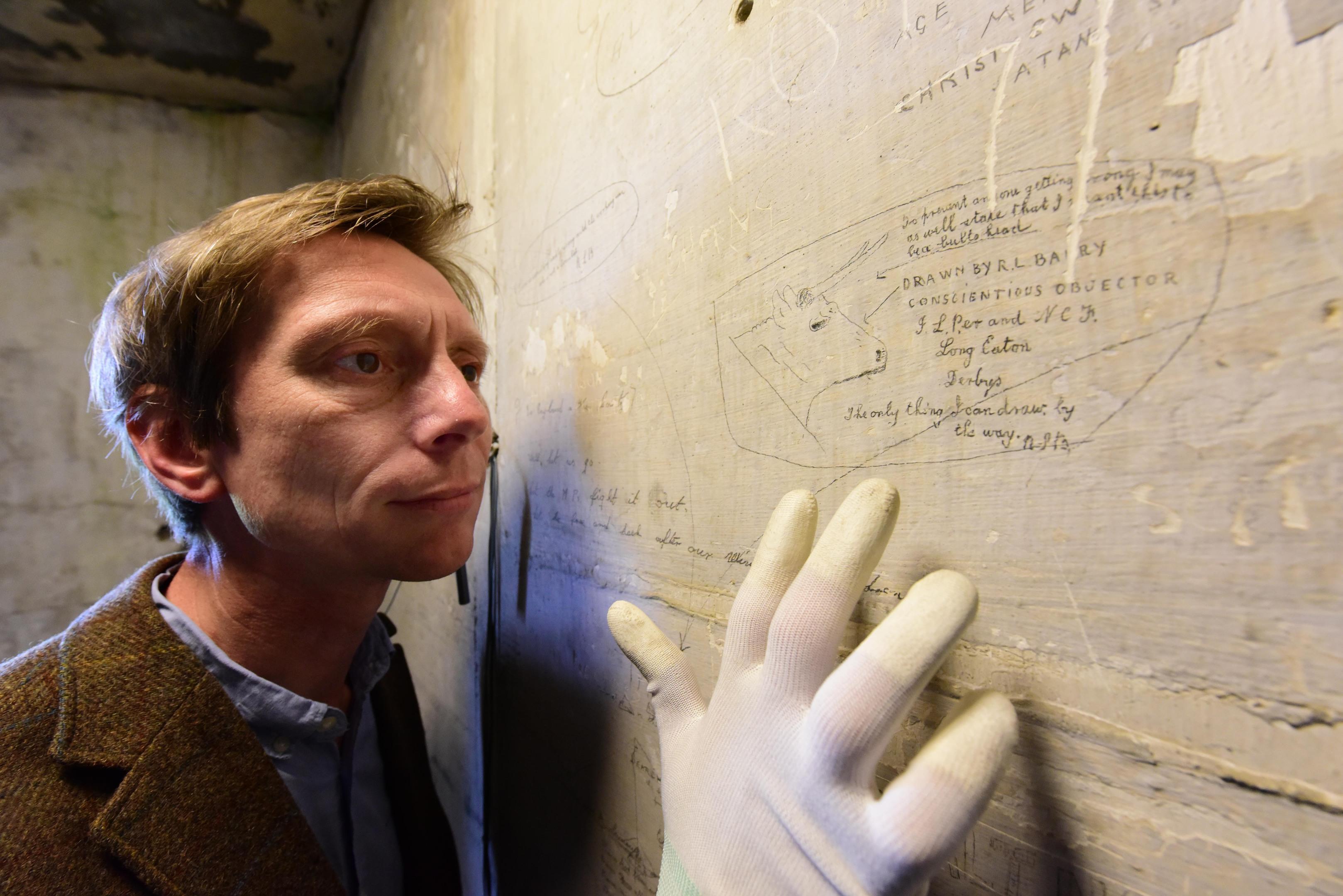 """""""Richmond sixteen"""" graffiti (Anthony Chappel-Ross/English Heritage/PA)"""