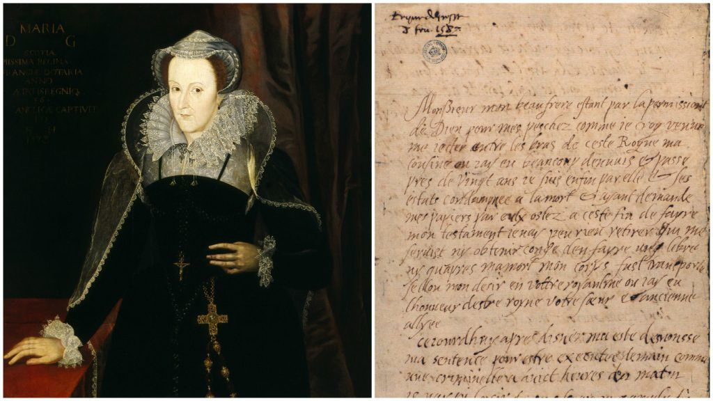 The last letter of Mary Queen of Scots