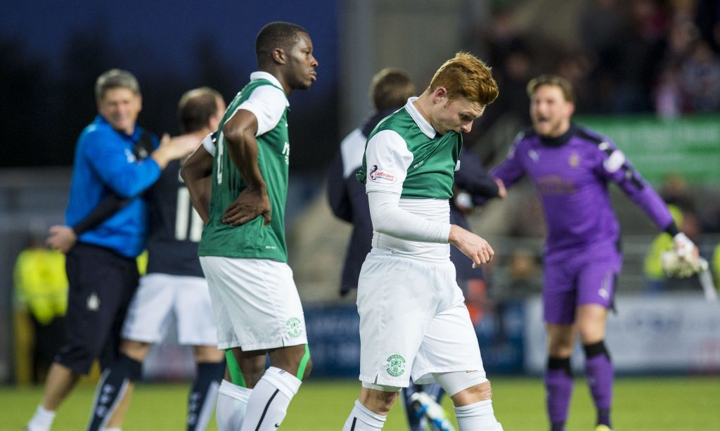 Dejection for Hibs at full time (SNS Group)
