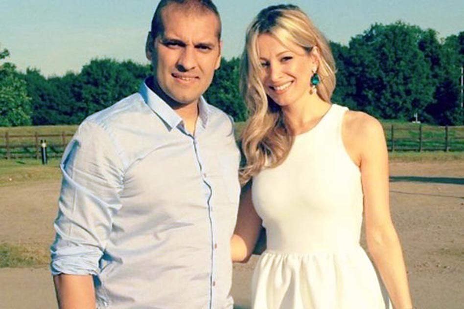 Stiliyan Petrov and his wife Paulina Petrova