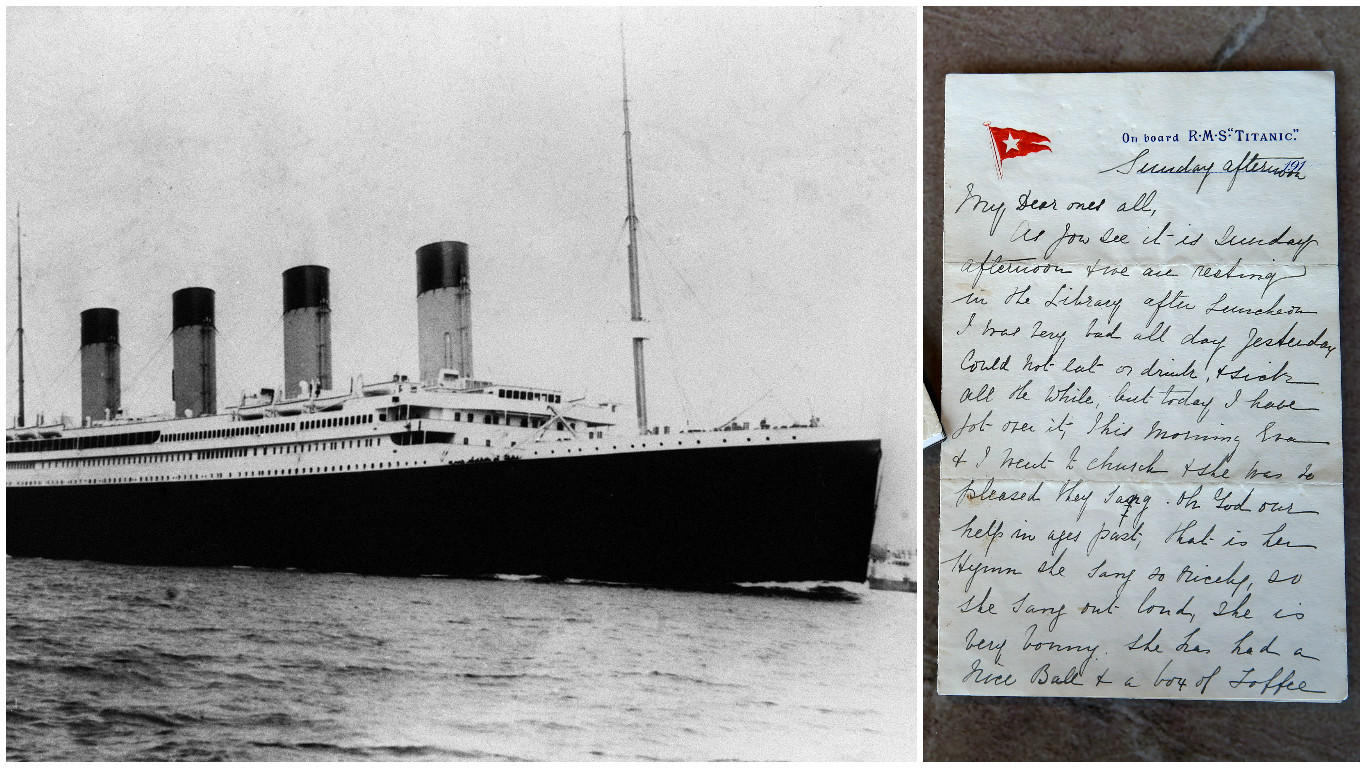 The last letter written on Titanic (PA Archive & William Cherry/Presseye)