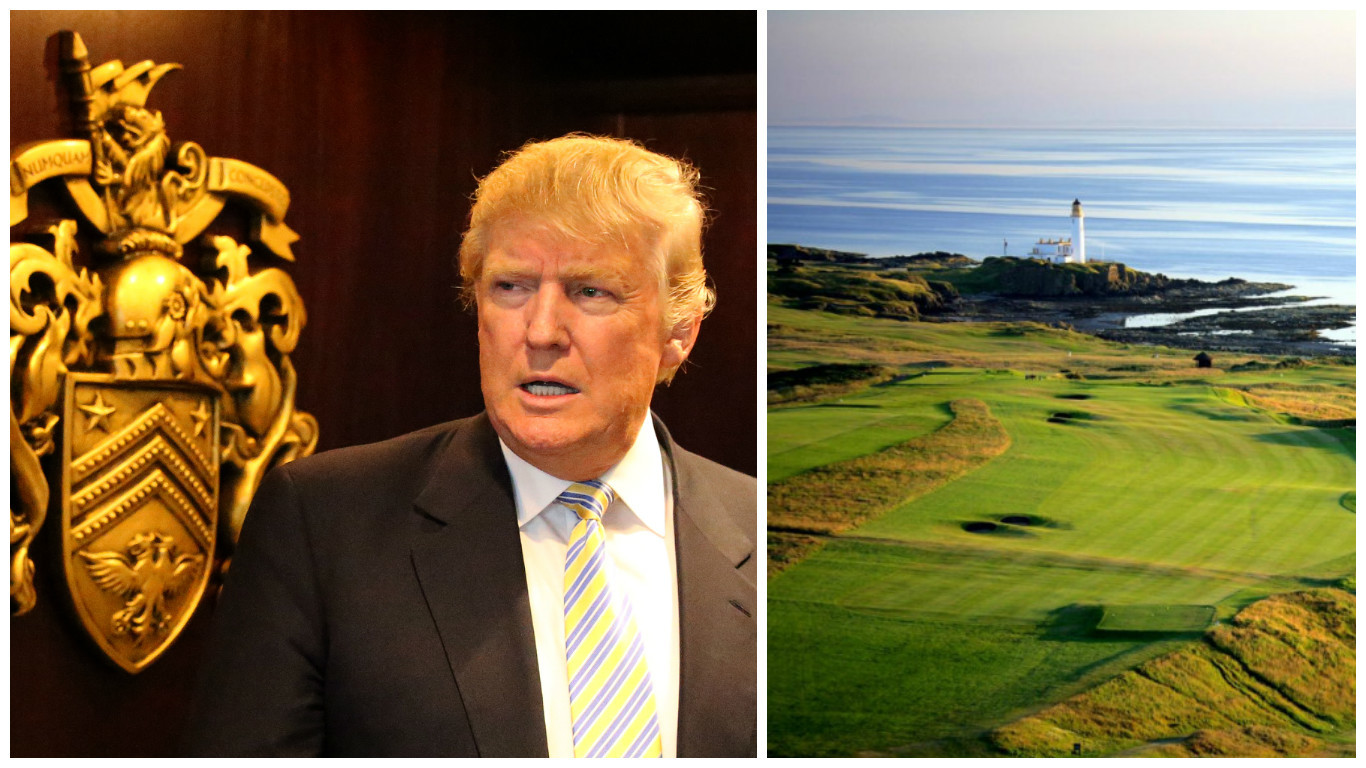 Trump's Turnberry course (Andrew Milligan / PA Wire & Getty Images)