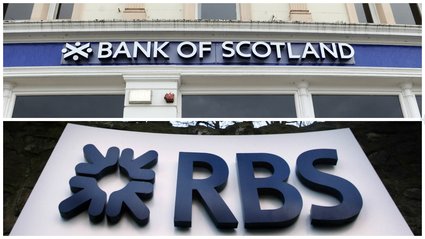 Bank of Scotland and RBS have been named in the papers