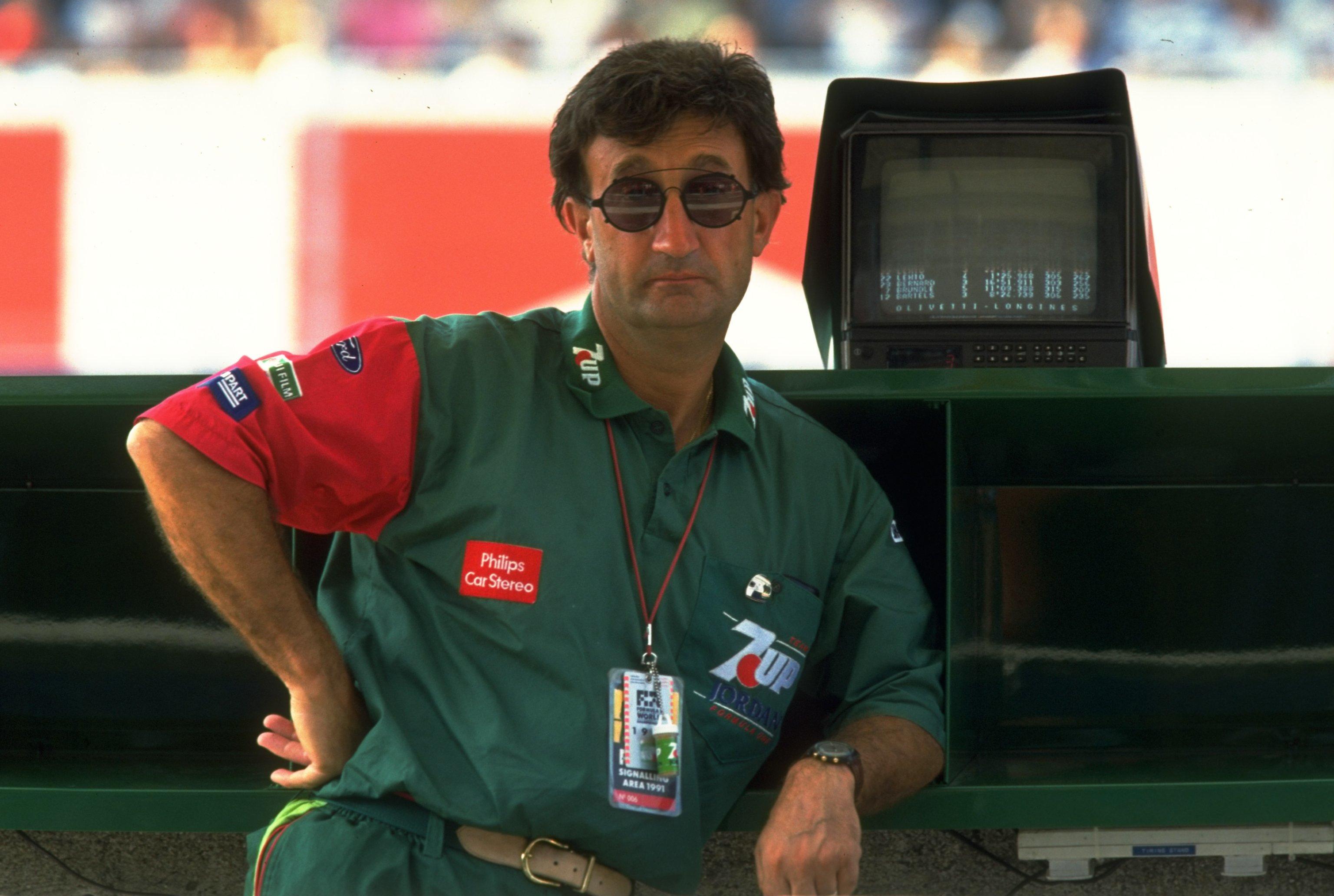 Eddie Jordan during the Italian Grand Prix at the Monza circuit in Italy in 1991 (during the Italian Grand Prix at the Monza circuit in Italy (Pascal Rondeau/Allsport)