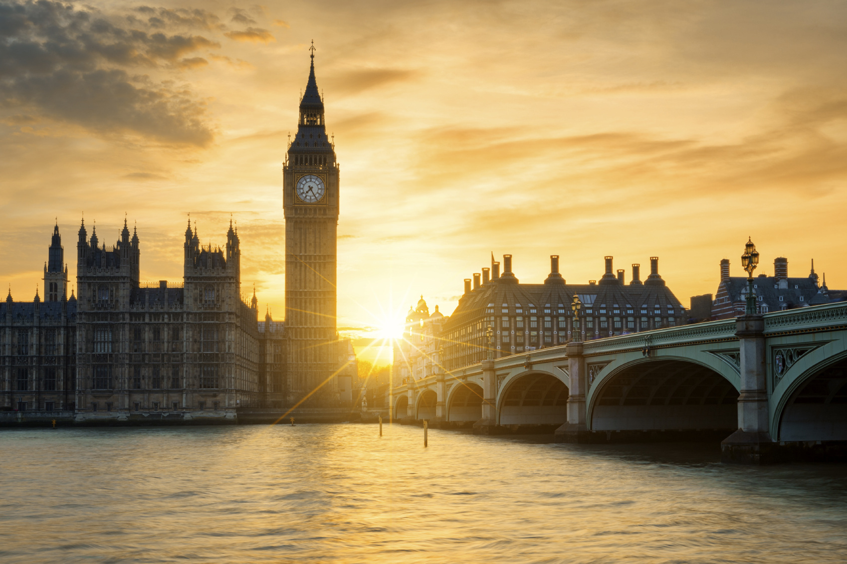 Sunset over Westminster (Getty Images)