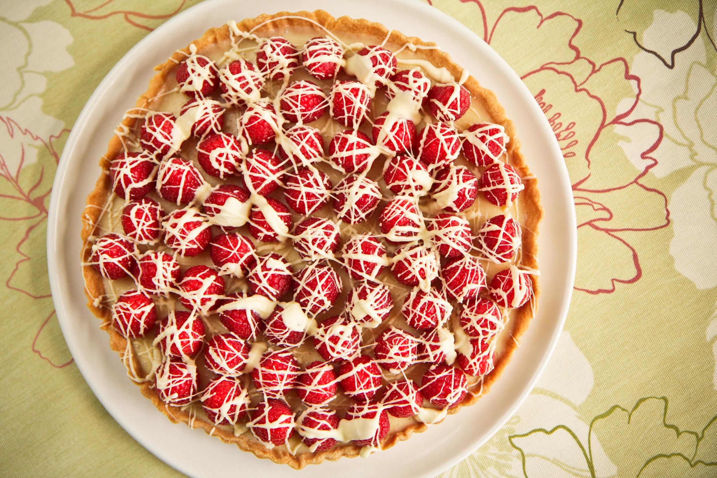 Raspberry and white chocolate tart (Rob Wicks)